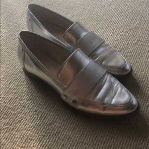 Nine West silver loafer